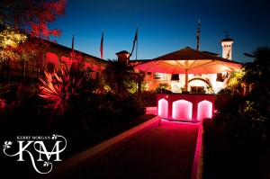 Kensington Roof Gardens wedding at night