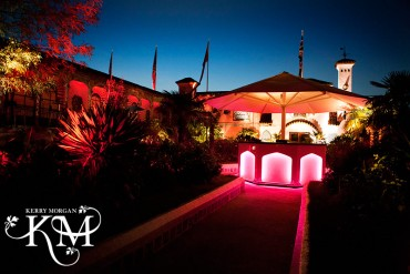 Kensington Roof Gardens wedding at night