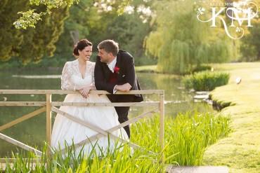 Ardington House Wedding portraits of bridge