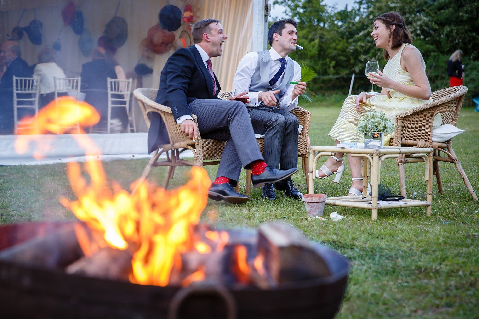 wedding fire pits bromley wedding photographer