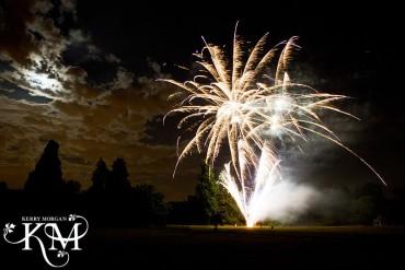 wedding at hedsor house fireworks