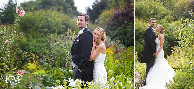 court lodge barn wedding photos in private flower garden