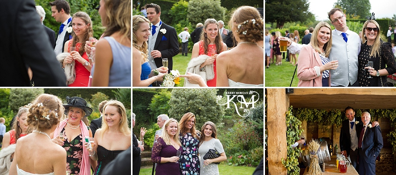 guests at court lodge barn wedding
