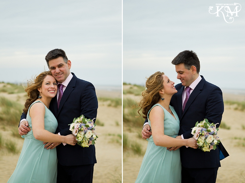 beach photos at camber sands wedding