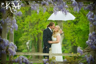 rain at great fosters weddings