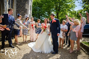 confetti at woodbridge wedding