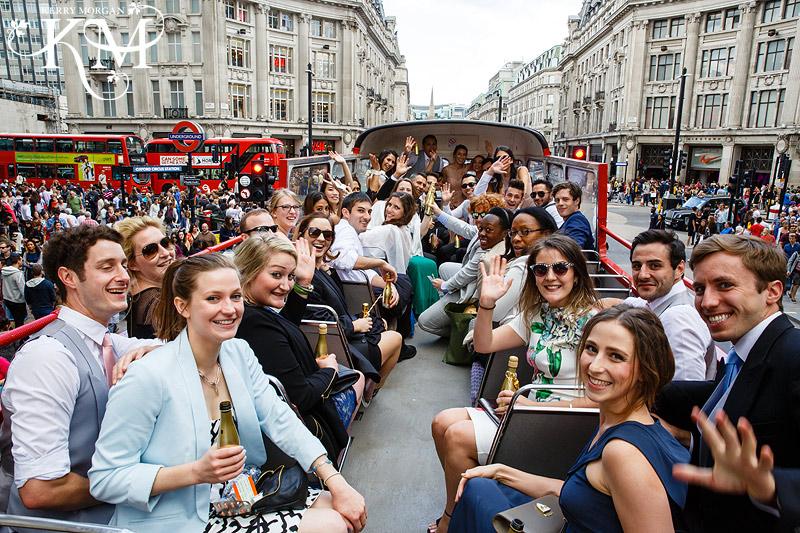 london wedding bus photos