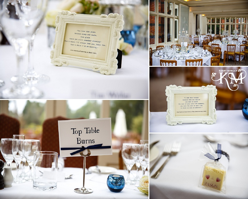 Elvetham wedding photography table decorations