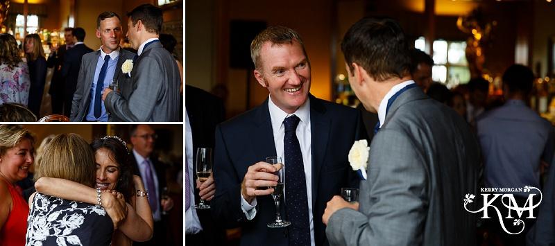 drinks at Elvetham wedding