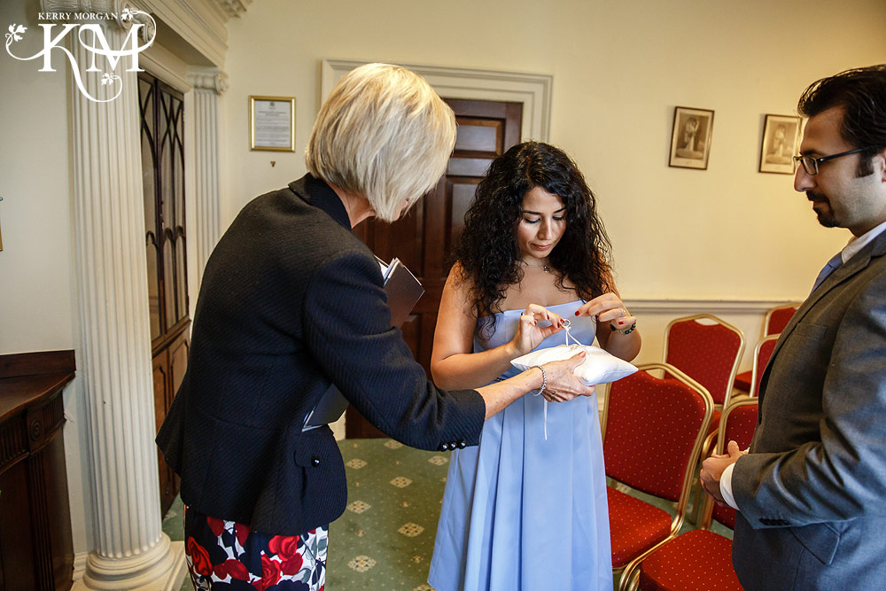 wedding ceremony photos at Merton Register Office