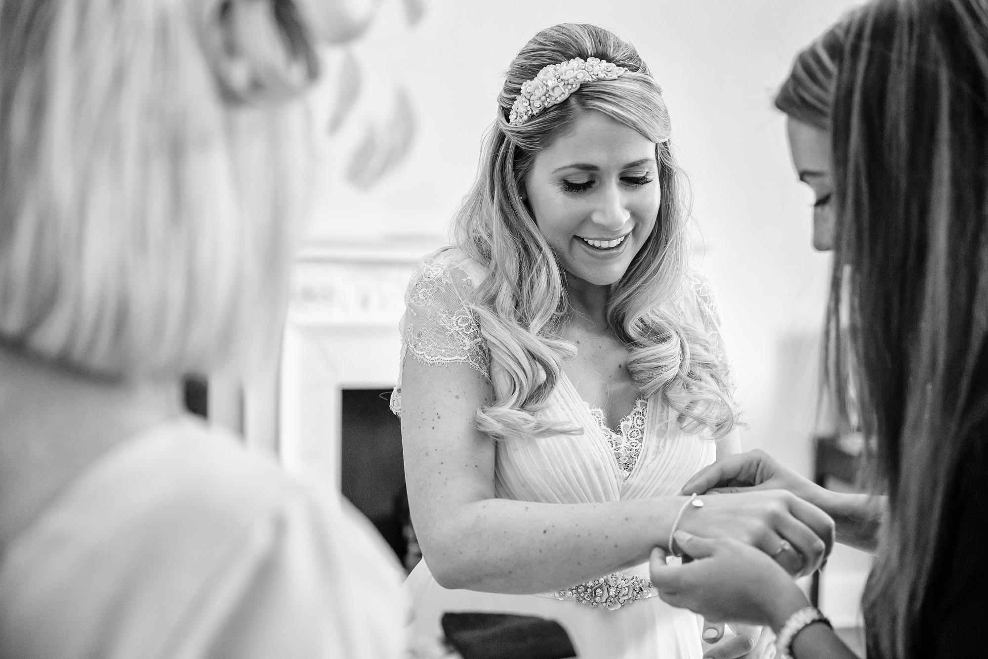 bride at Botleys masnion