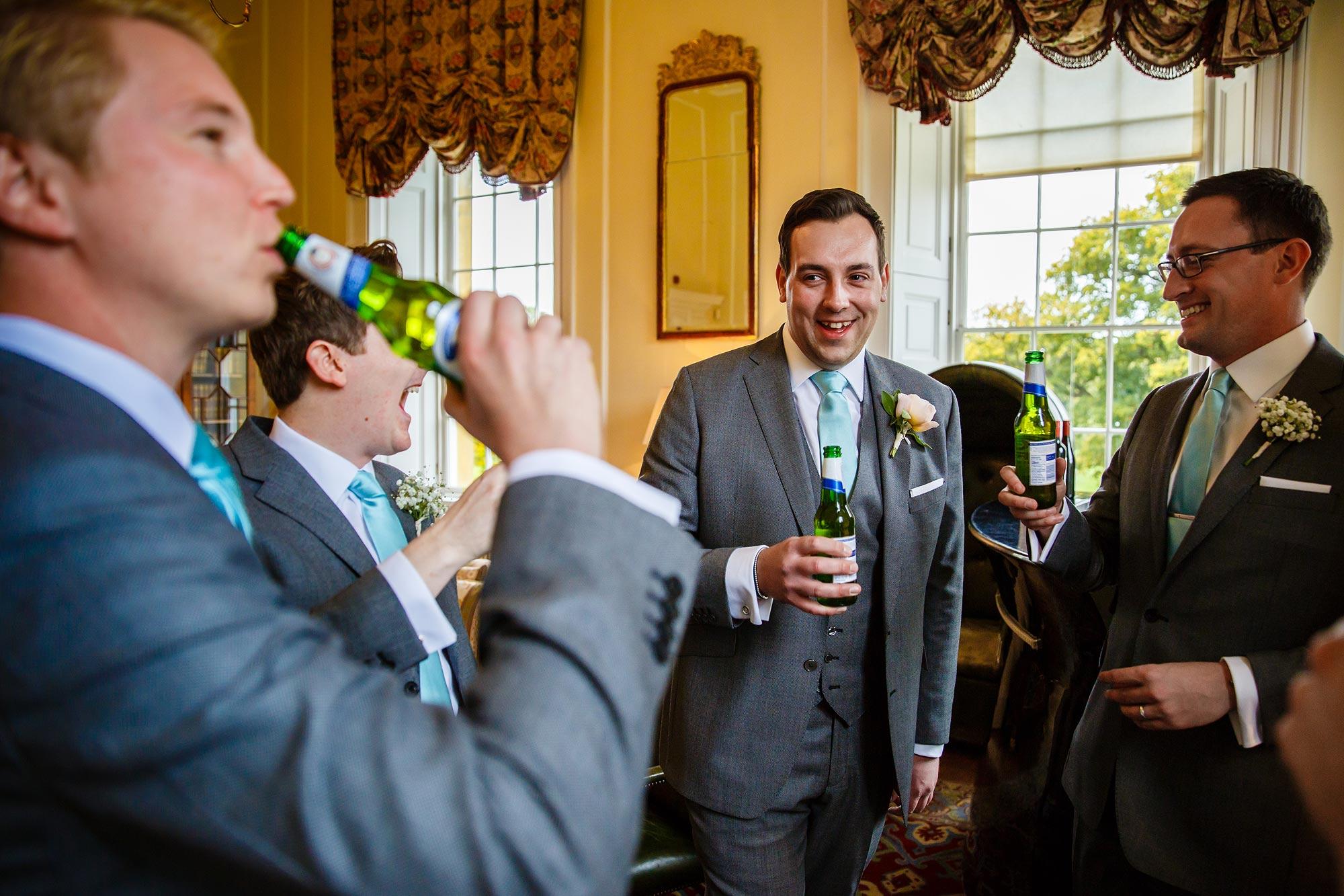 beers at wedding