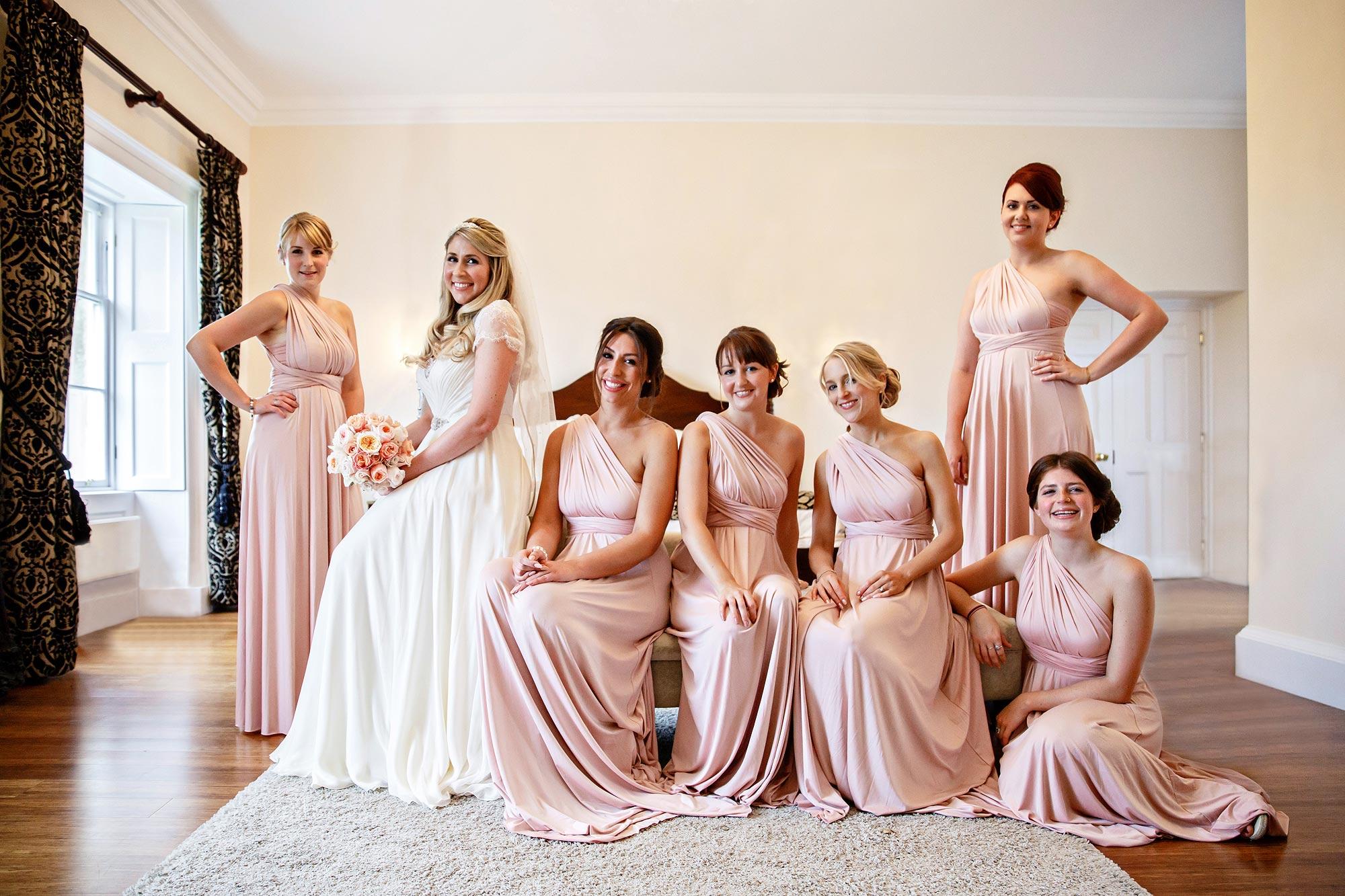 Bridesmaids at Botleys Mansion