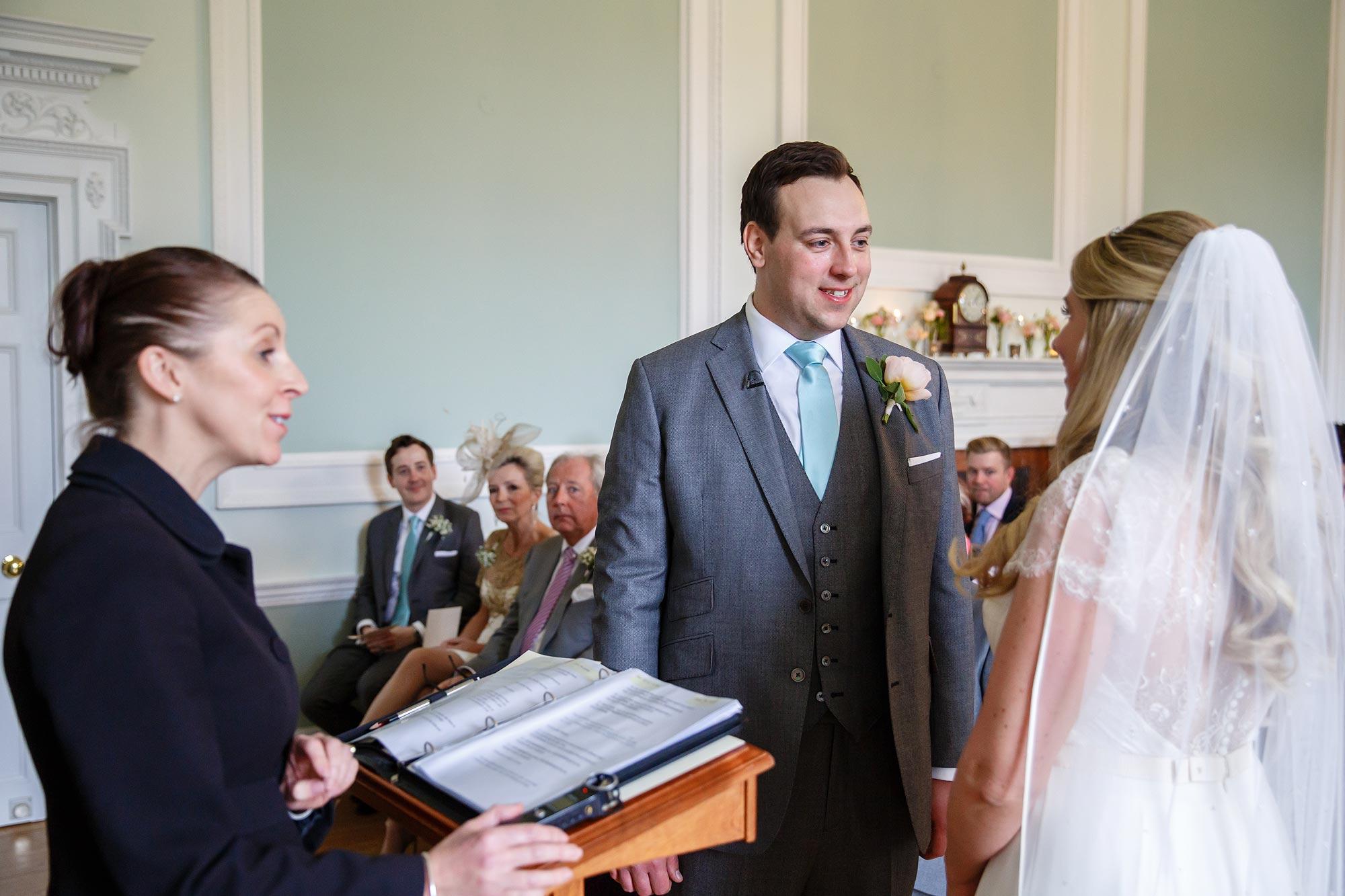 groom wedding ceremony botleys mansion