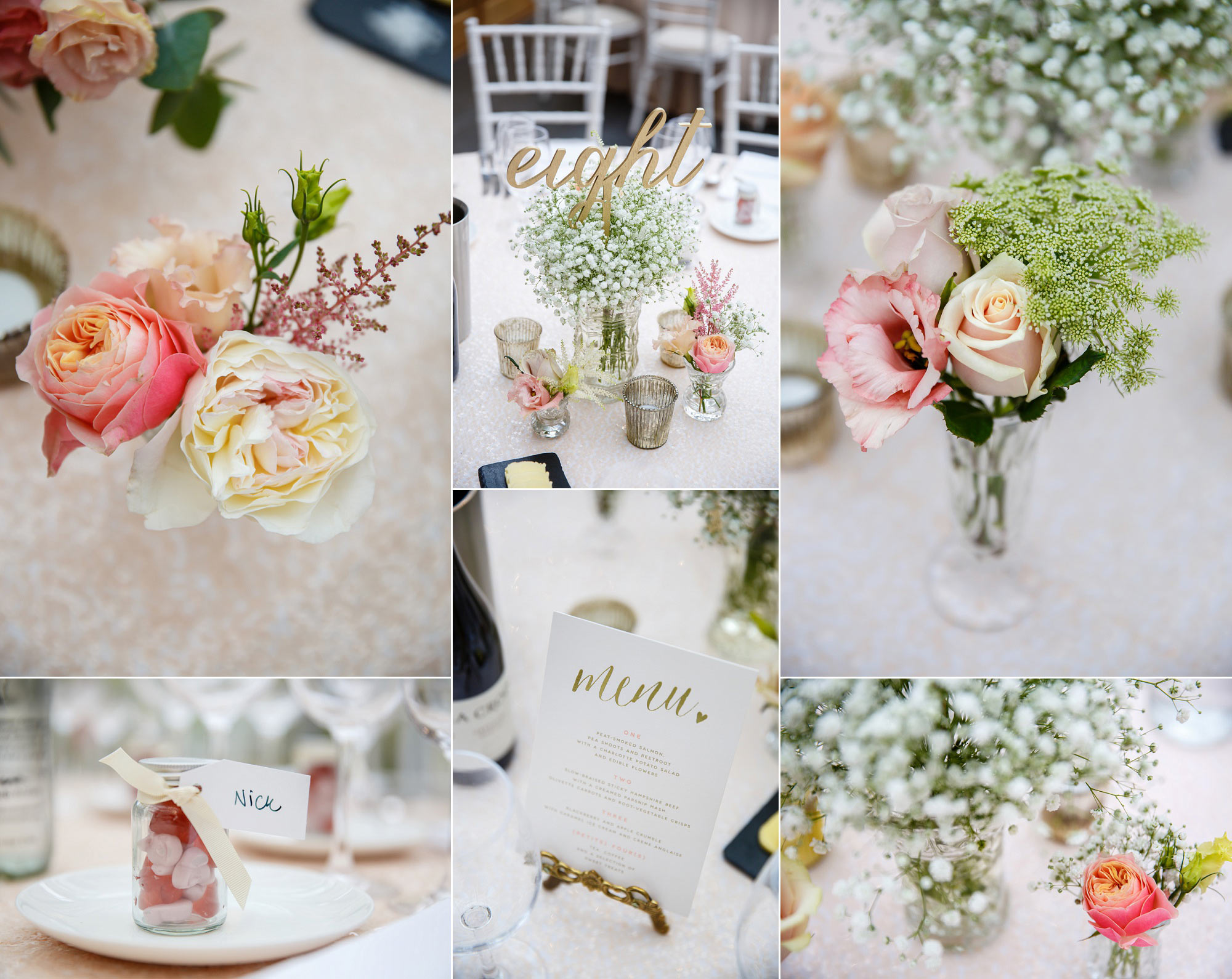 wedding tables at botleys mansion