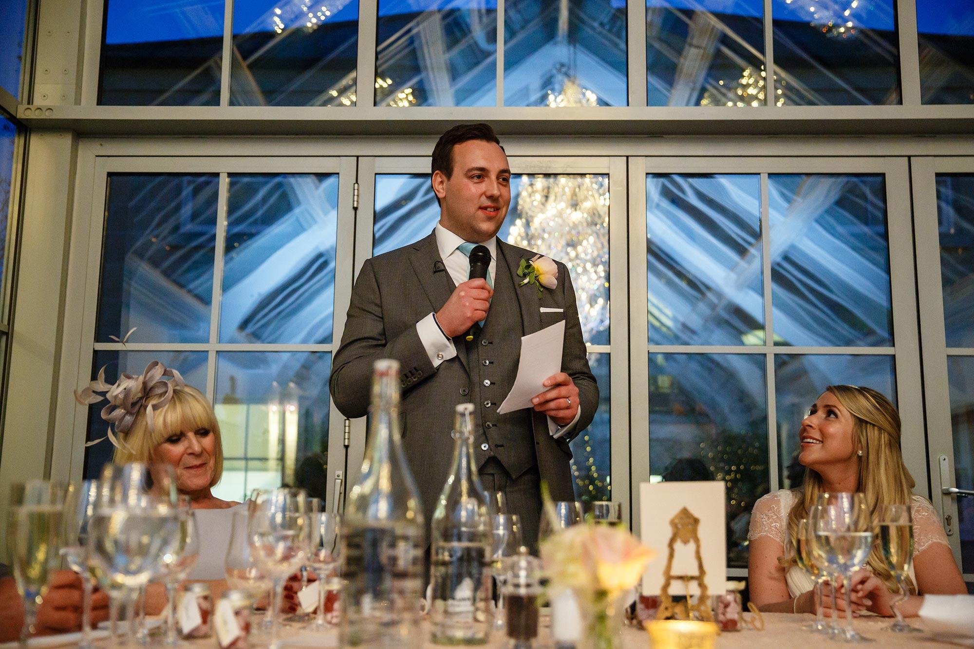 grooms speech at Botleys Mansion Wedding