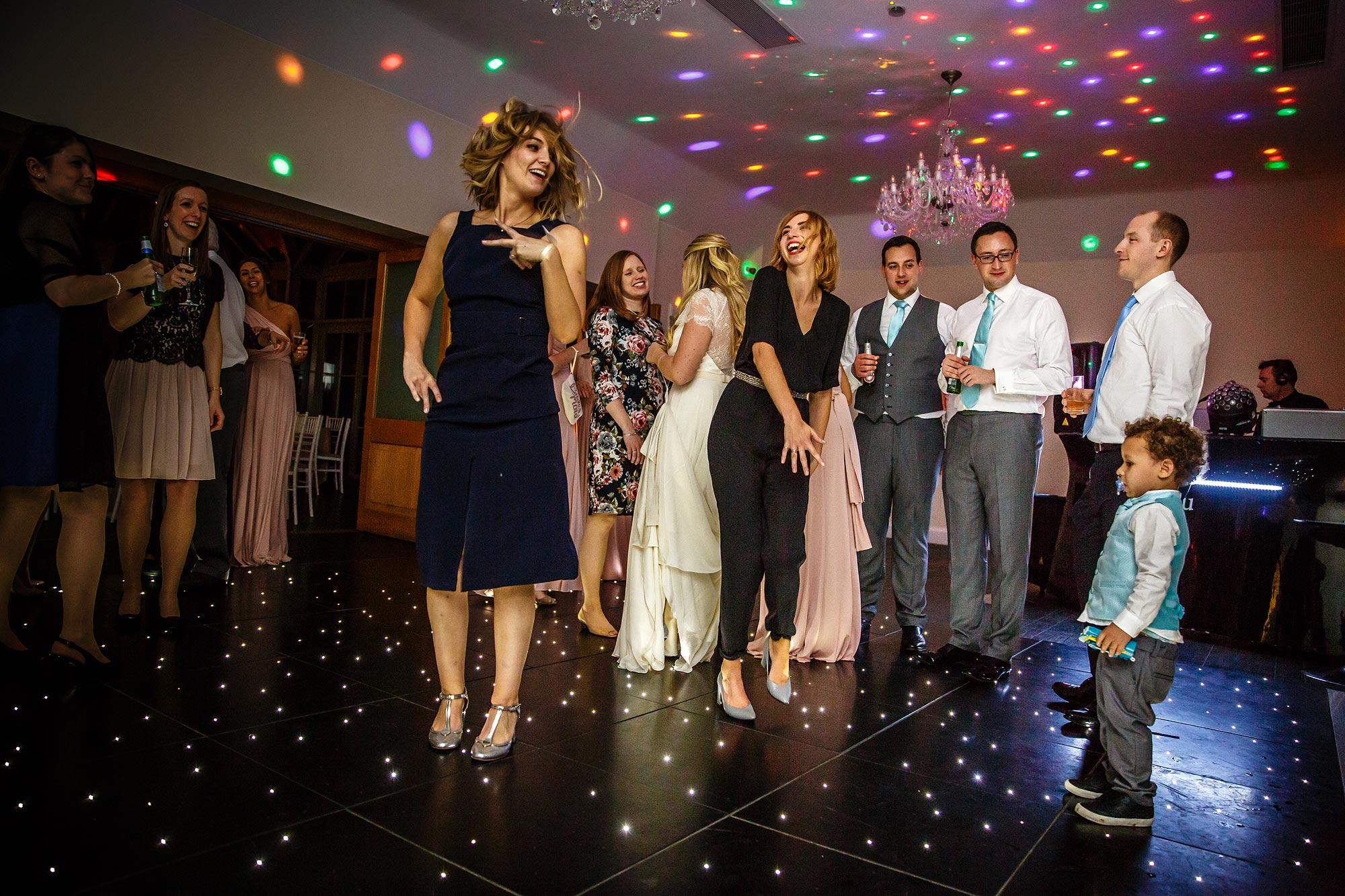 wedding dancing at surrey wedding