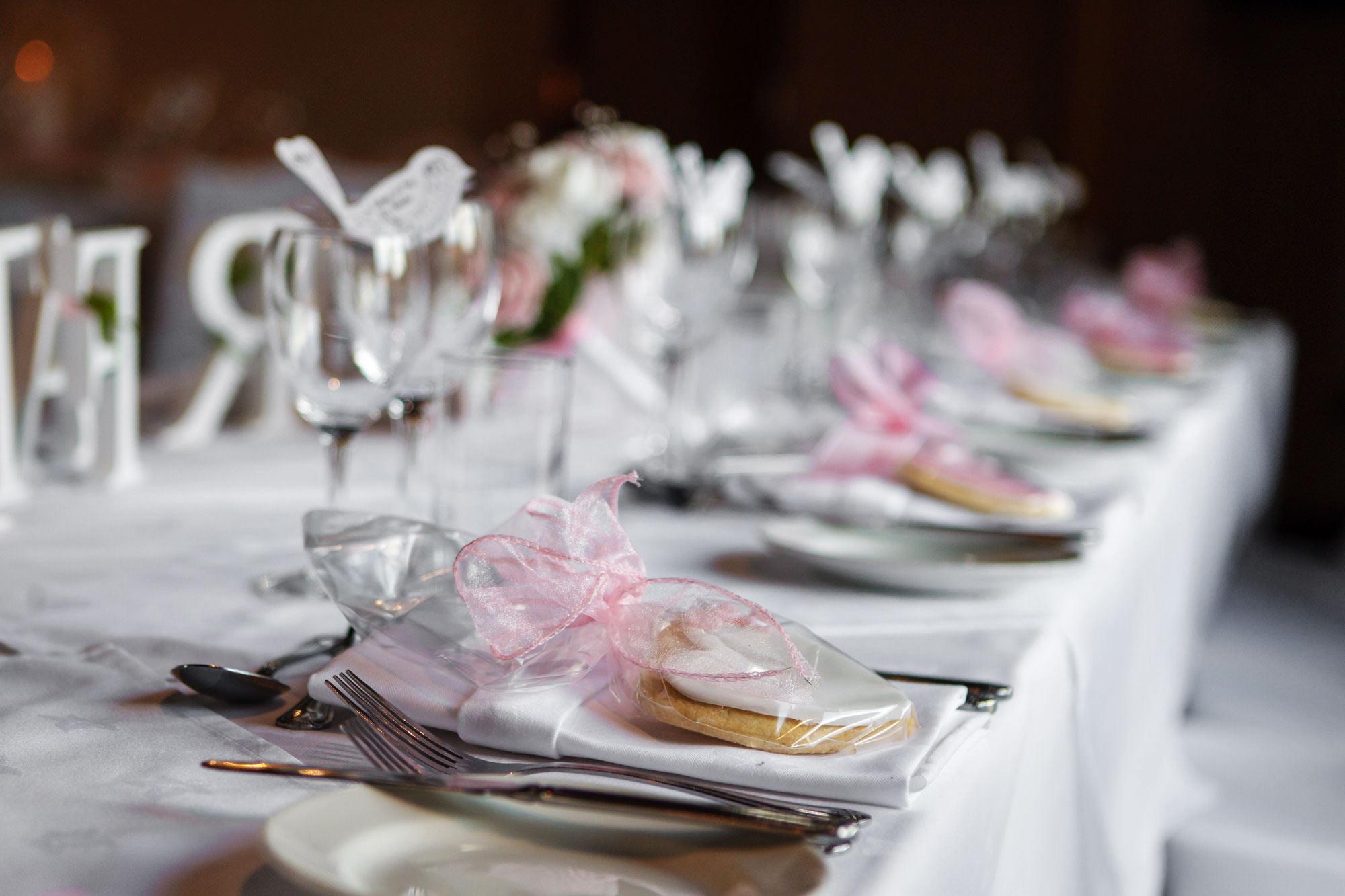 Leez Priory Wedding top table