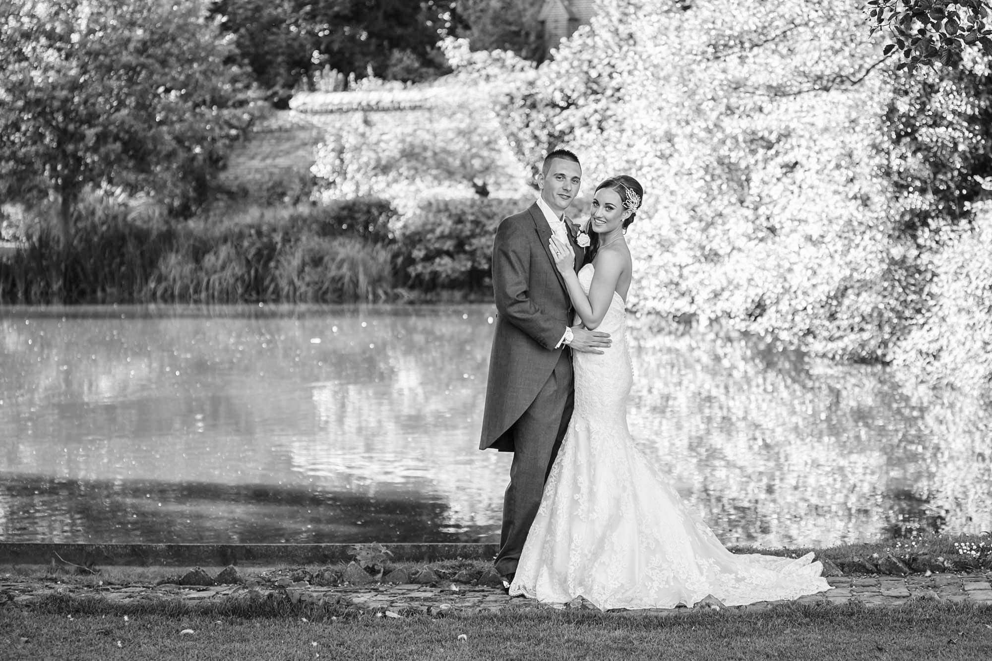 Leez Priory Wedding in black and white