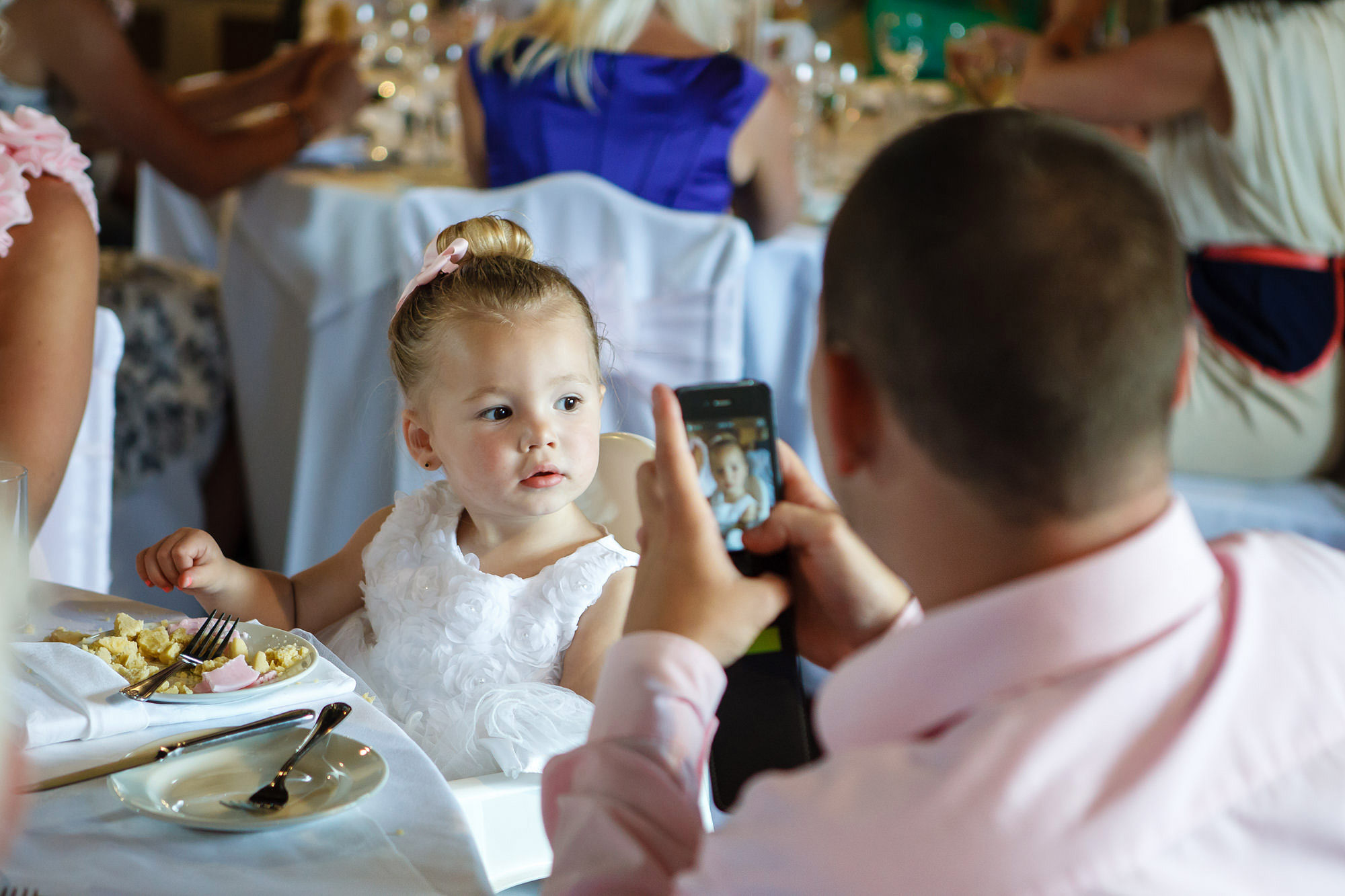 little girl at Leez Priory Wedding