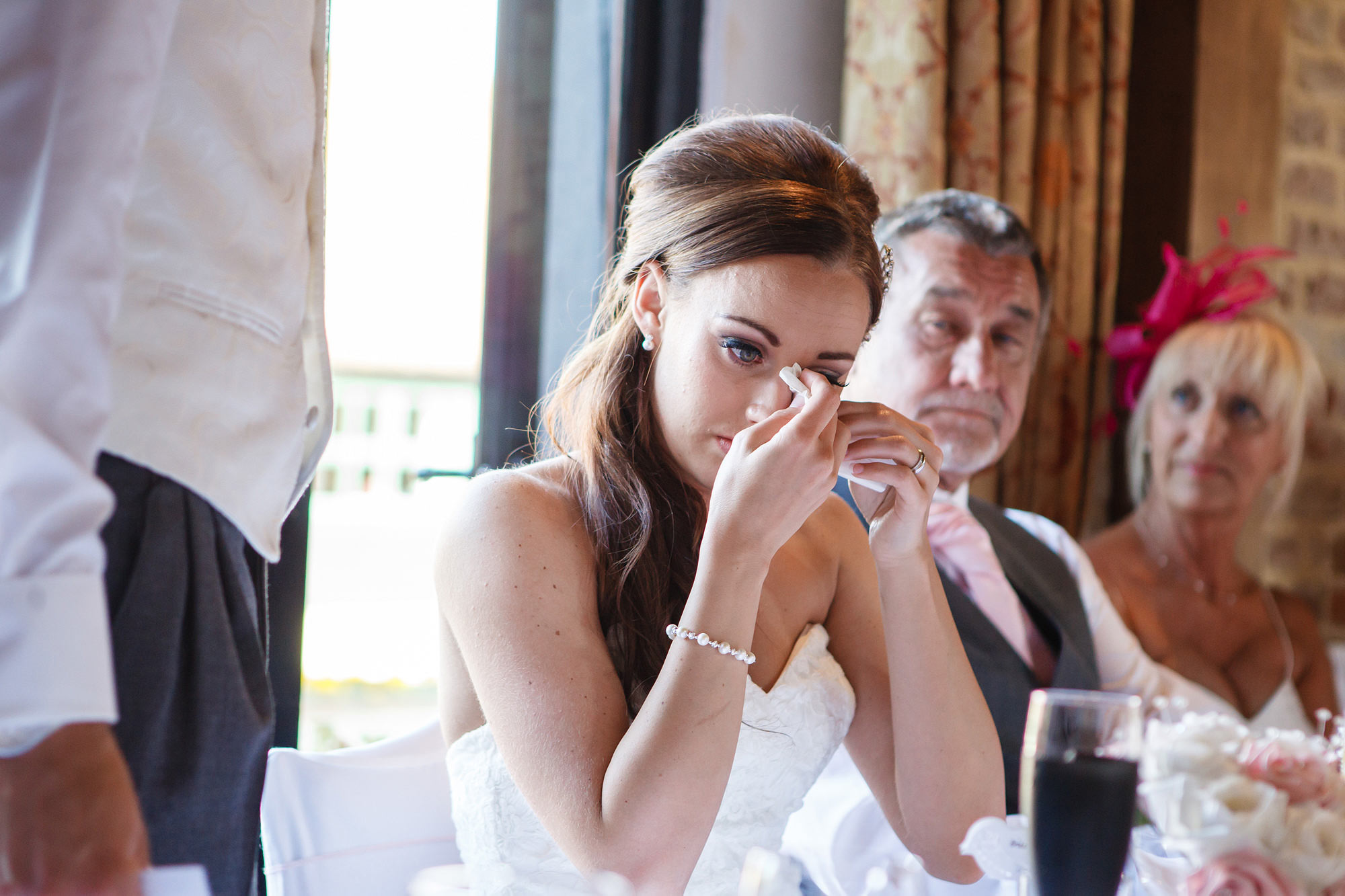 emotions at Leez Priory Wedding