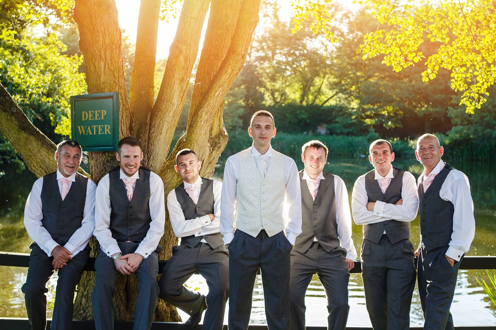 ushers and groom at Leez Priory Wedding