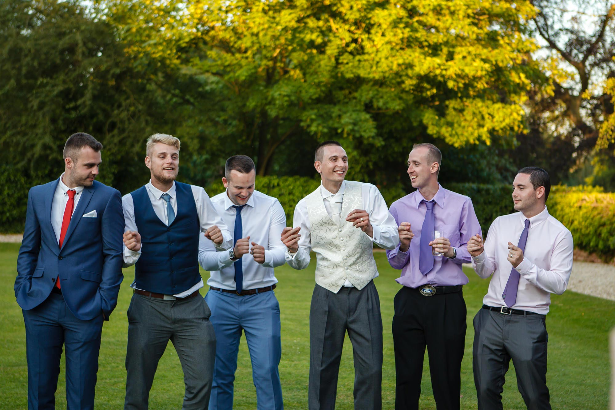 dancing at wedding all the boys