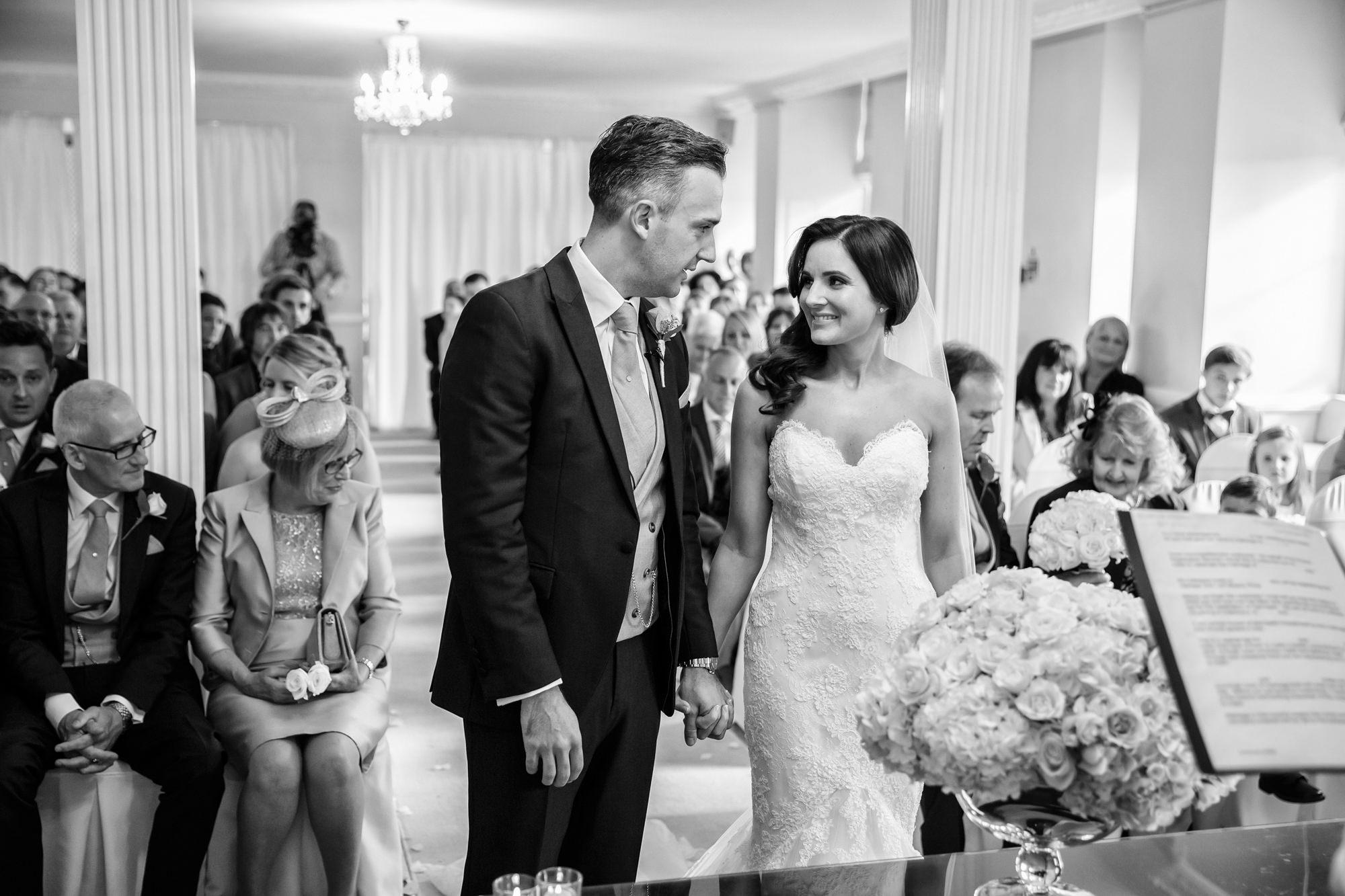 Parklands Quendon Hall Wedding ceremony