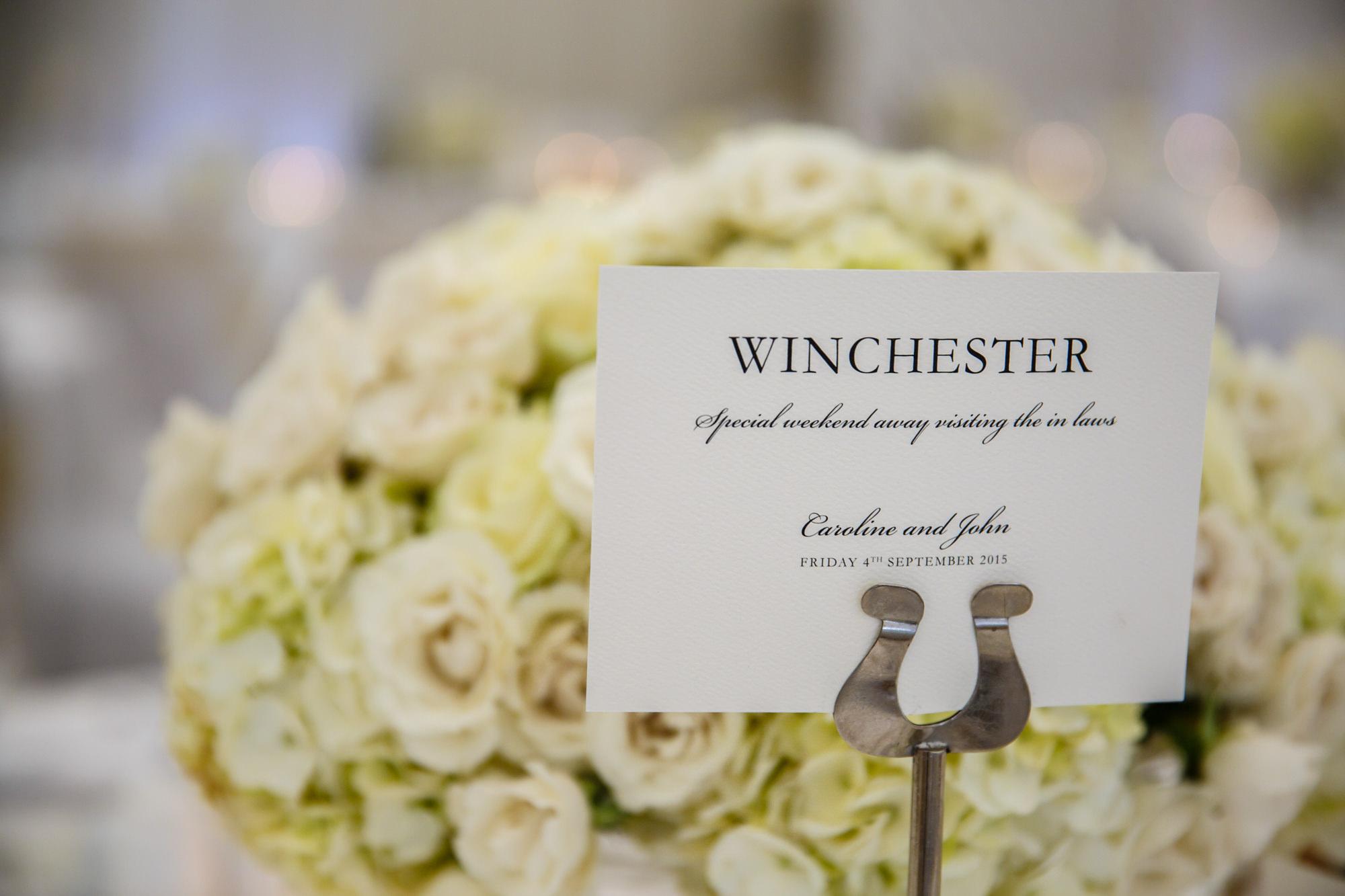 Parklands Quendon Hall Wedding florist