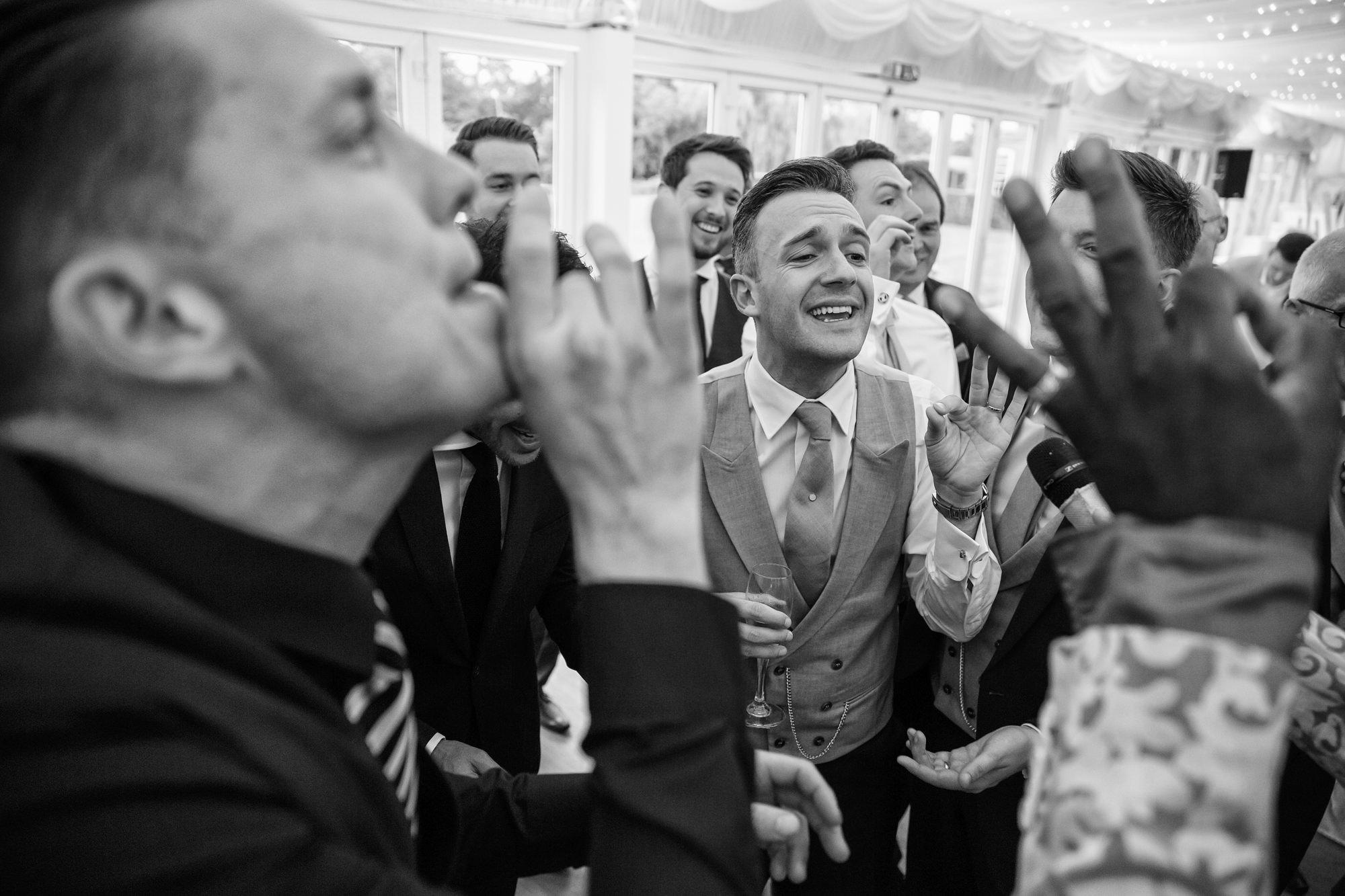 fun wedding at Parklands Quendon Hall
