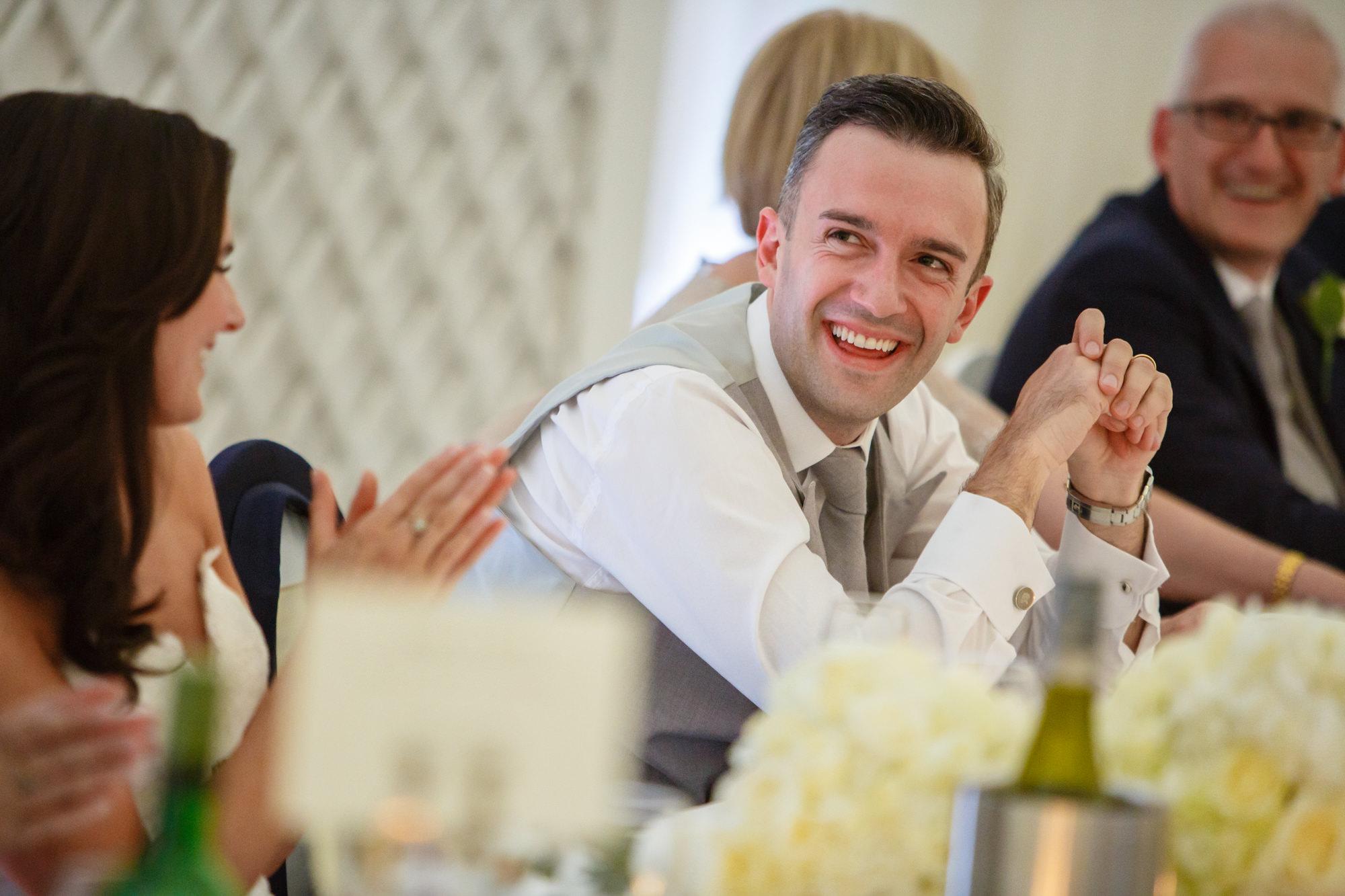 groom at parklands wedding