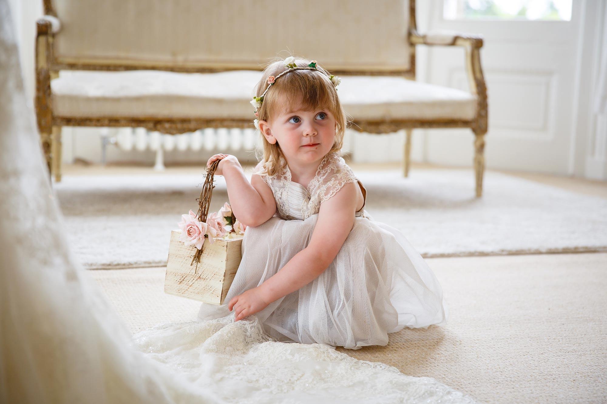 Hedsor House Wedding flower girl
