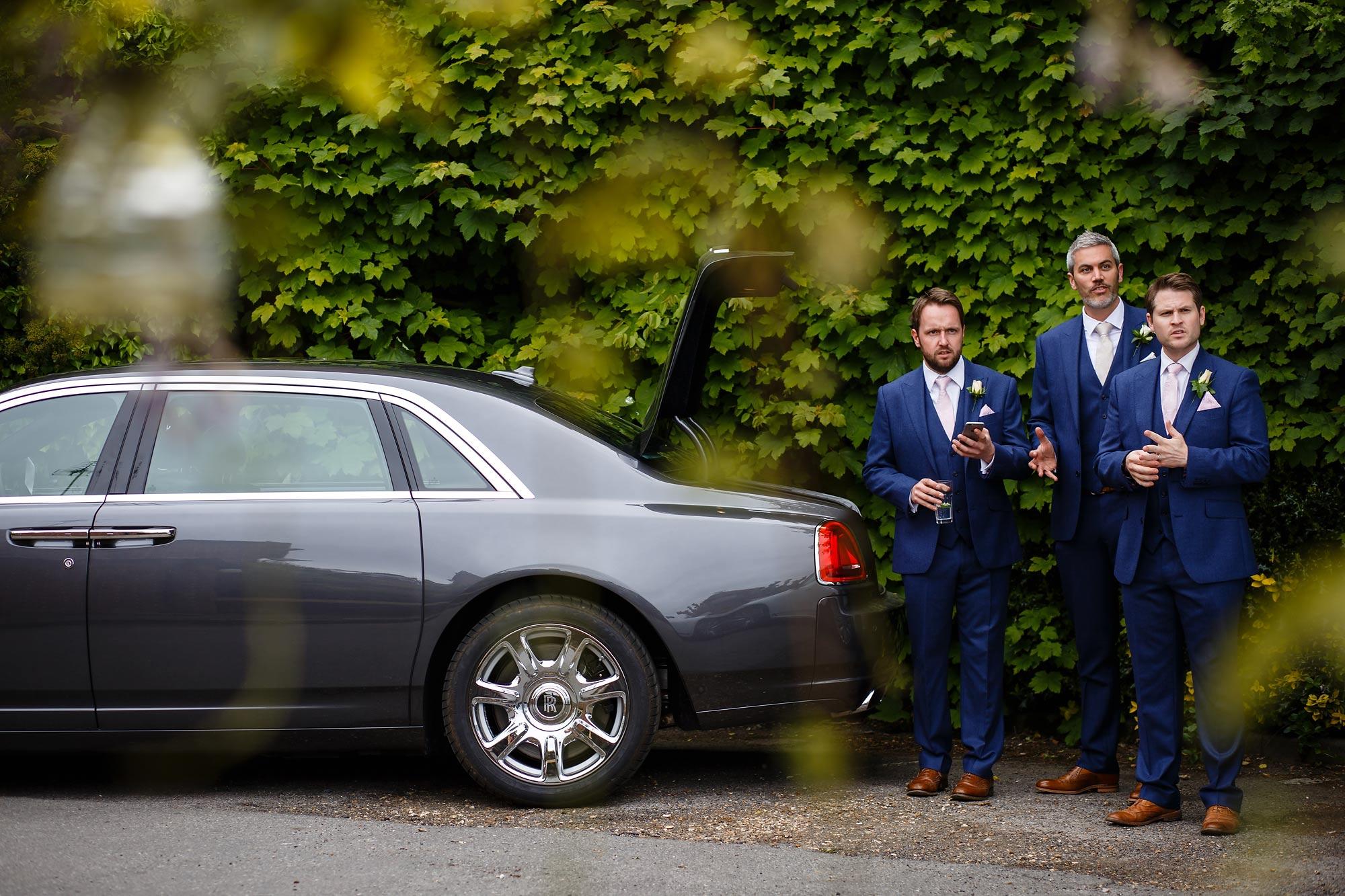 ushers at Hedsor House Wedding