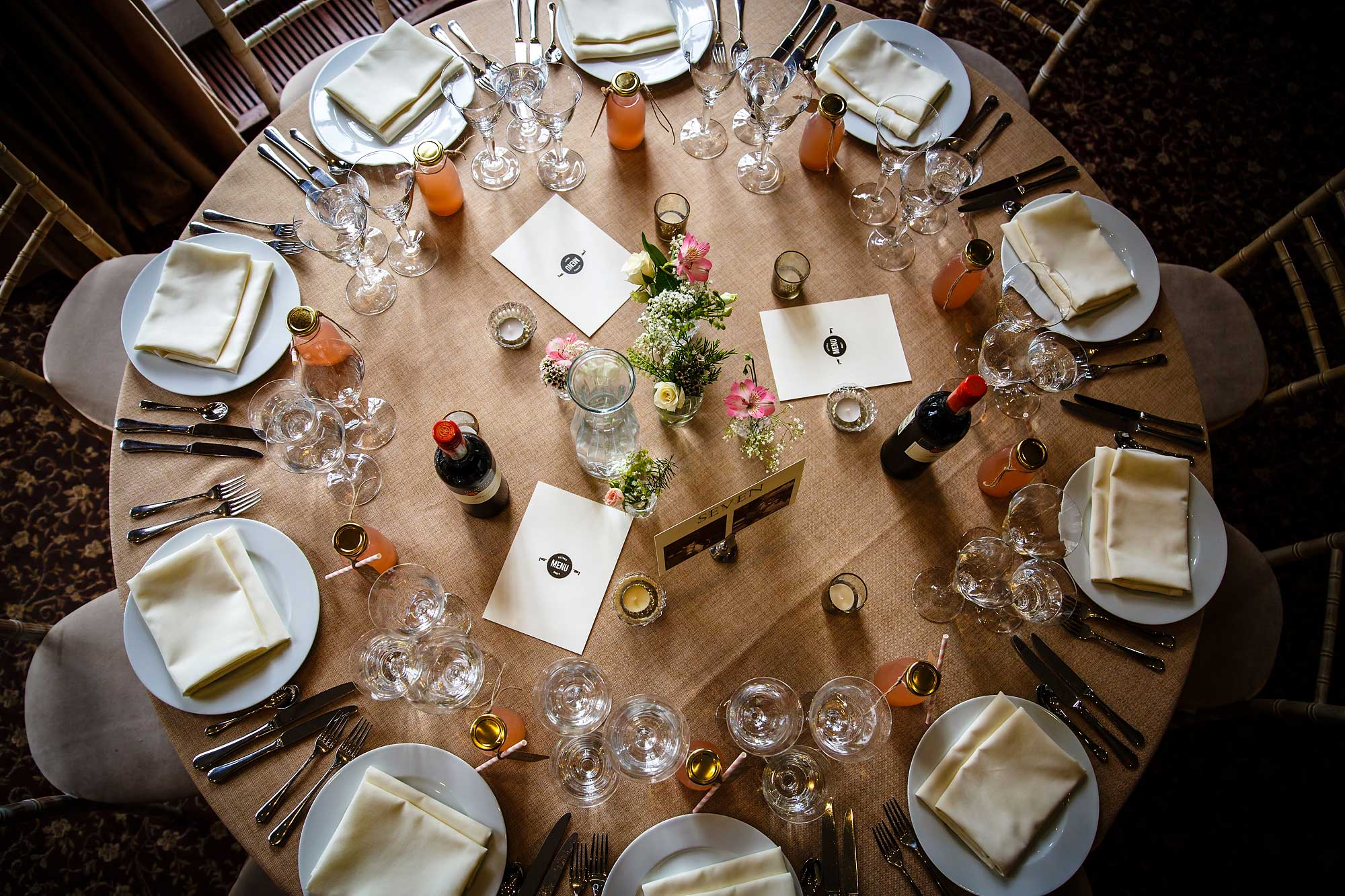 Hedsor House Wedding tables