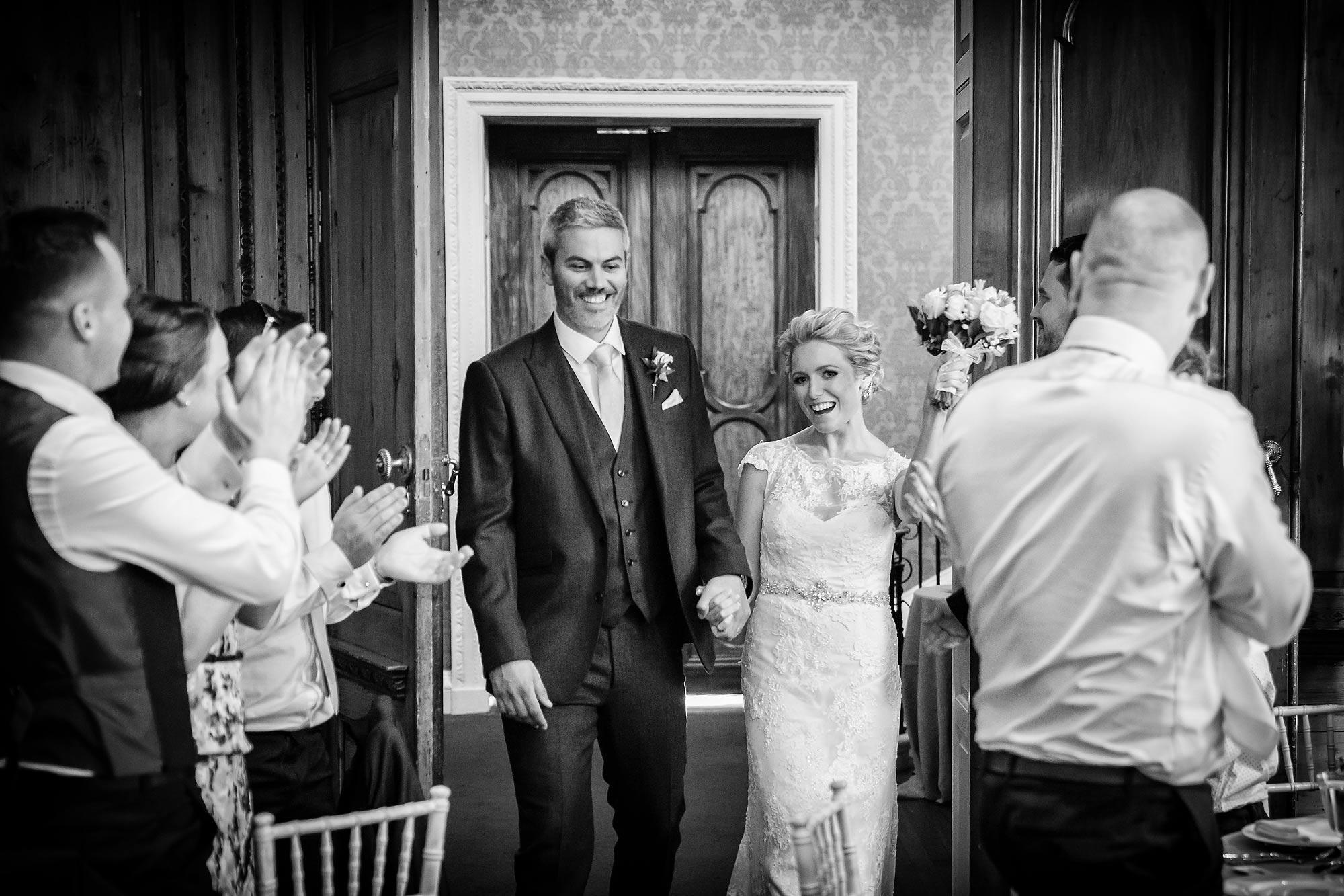 into the wedding breakfast documentary wedding photography