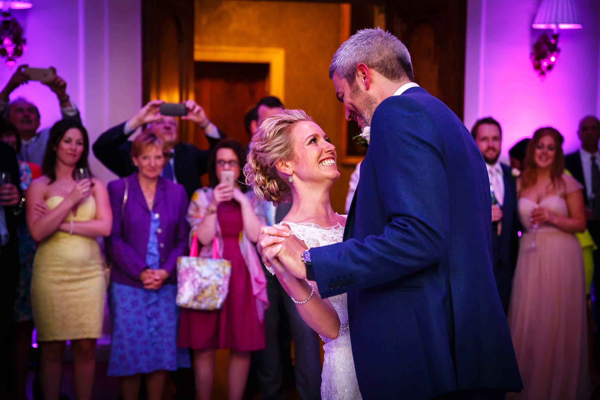 forst dance at Hedsor House Wedding
