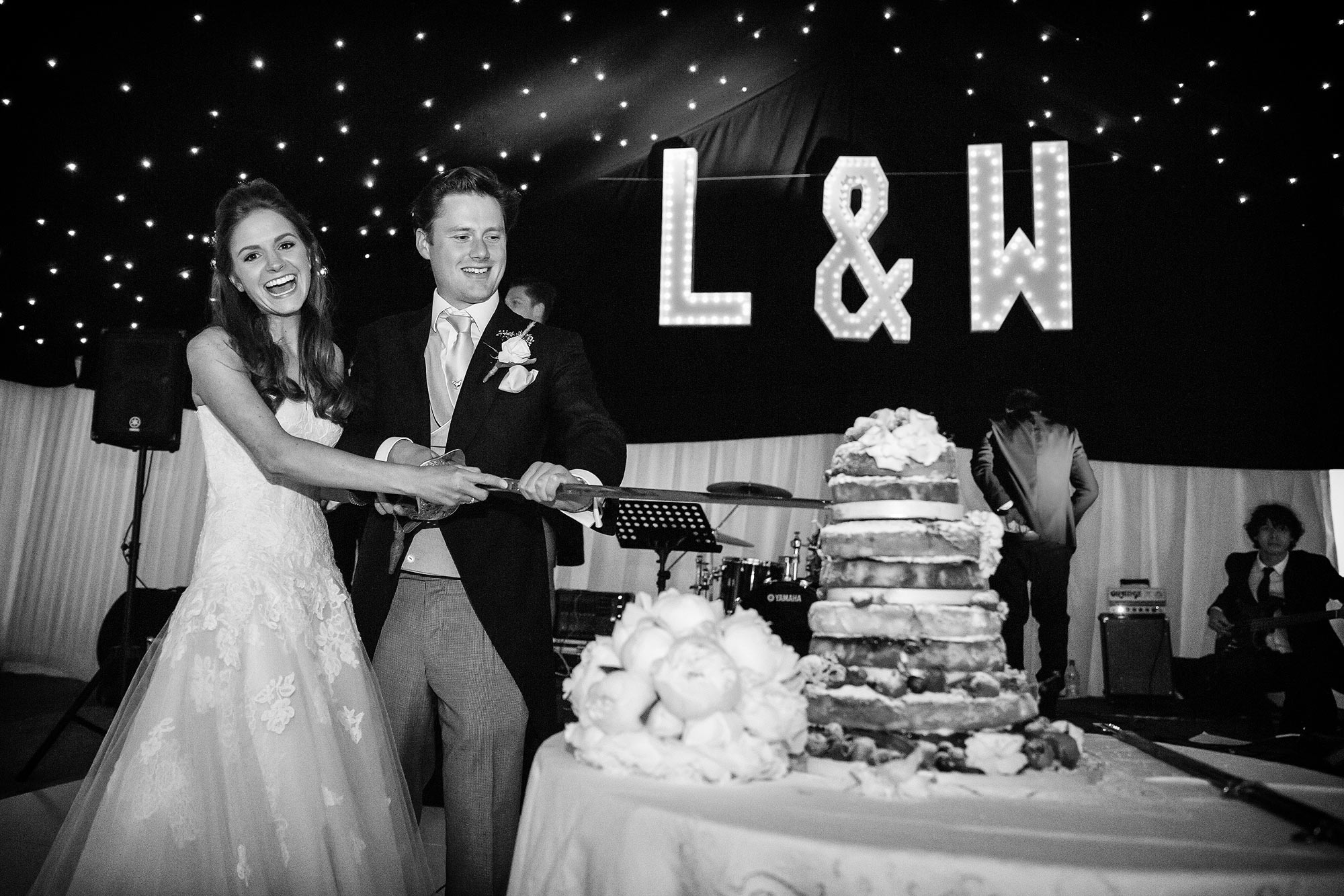 cake cutting at kent wedding