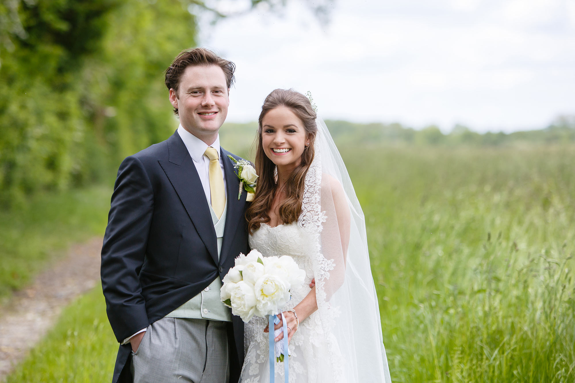 wedding photos in fields