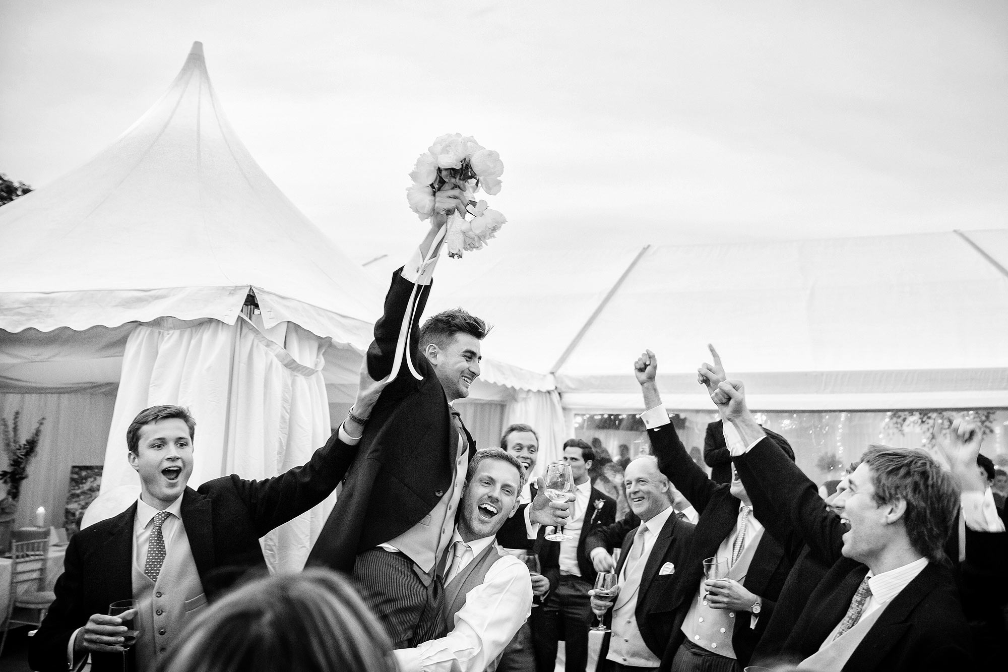 bestman catches bouquet