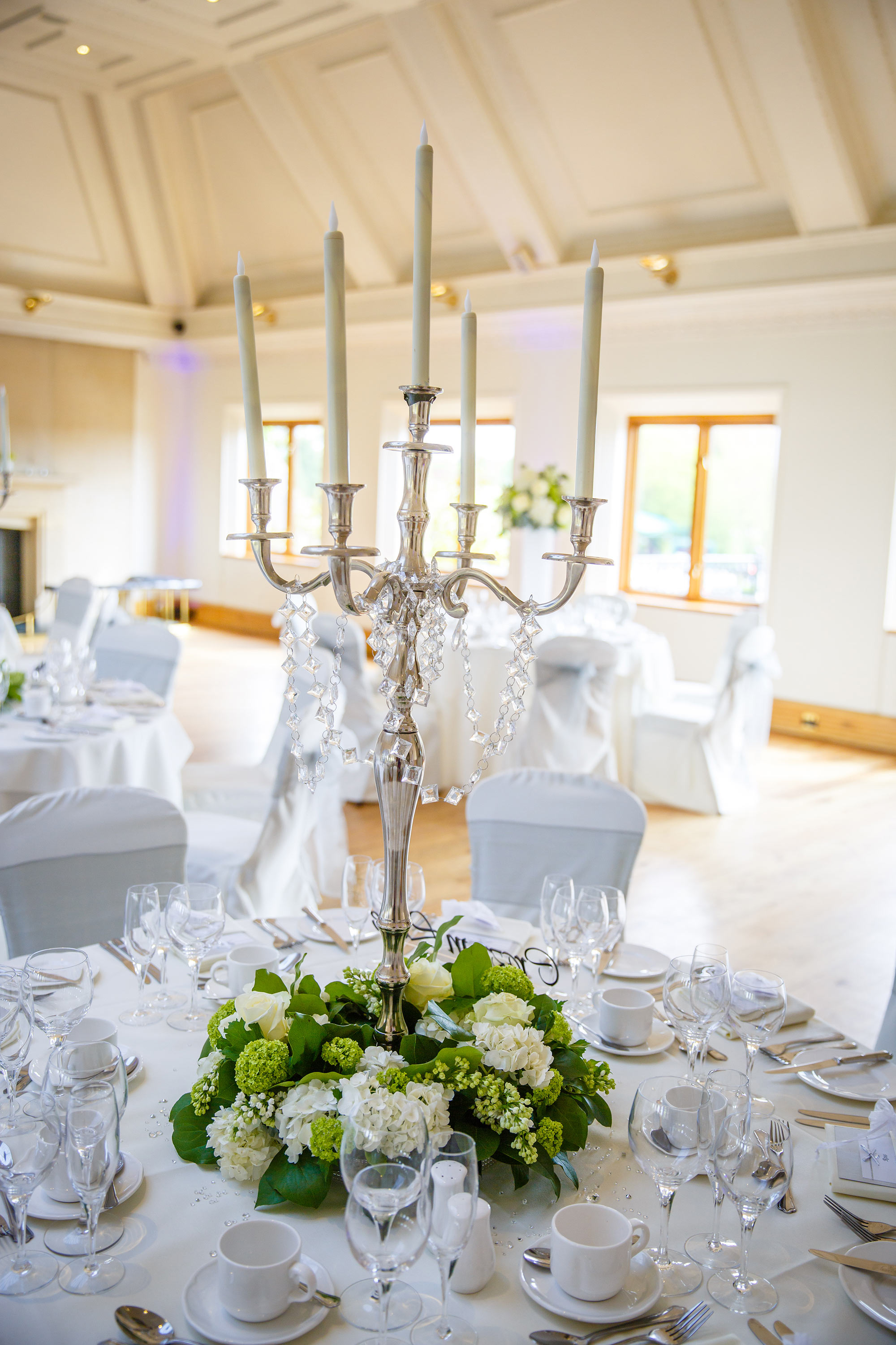 Stock Brook Country Club Wedding candlebra
