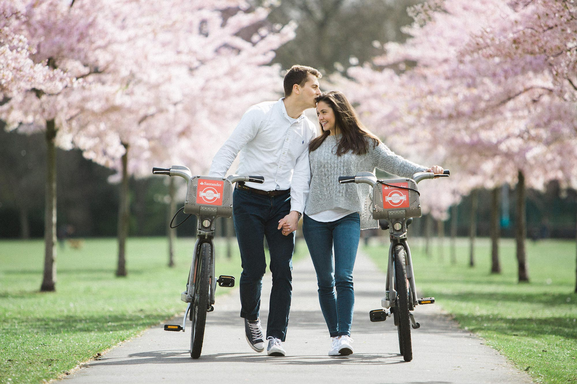 spring engagement shoot london