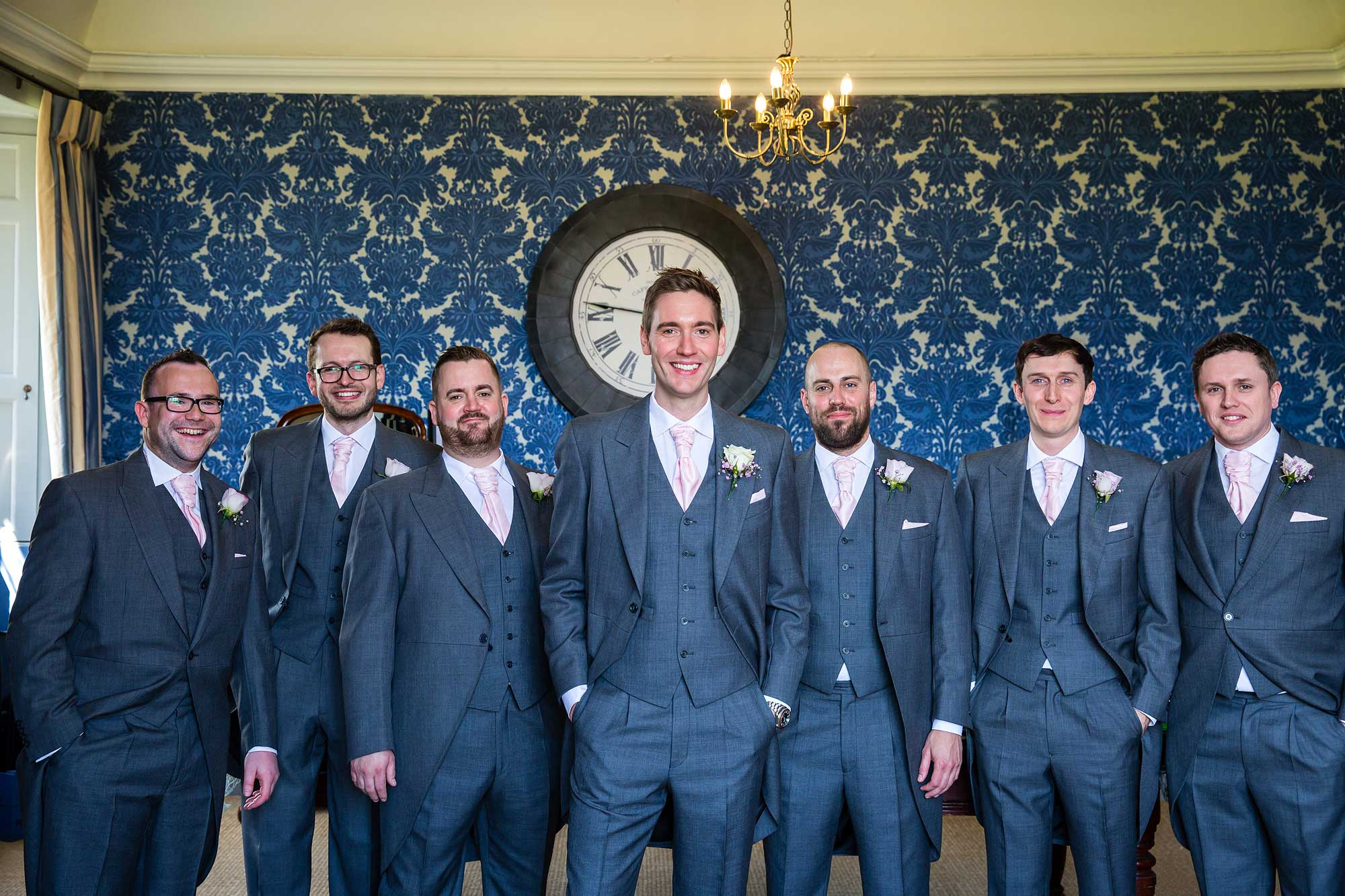 Group photo of the groom and his ushers
