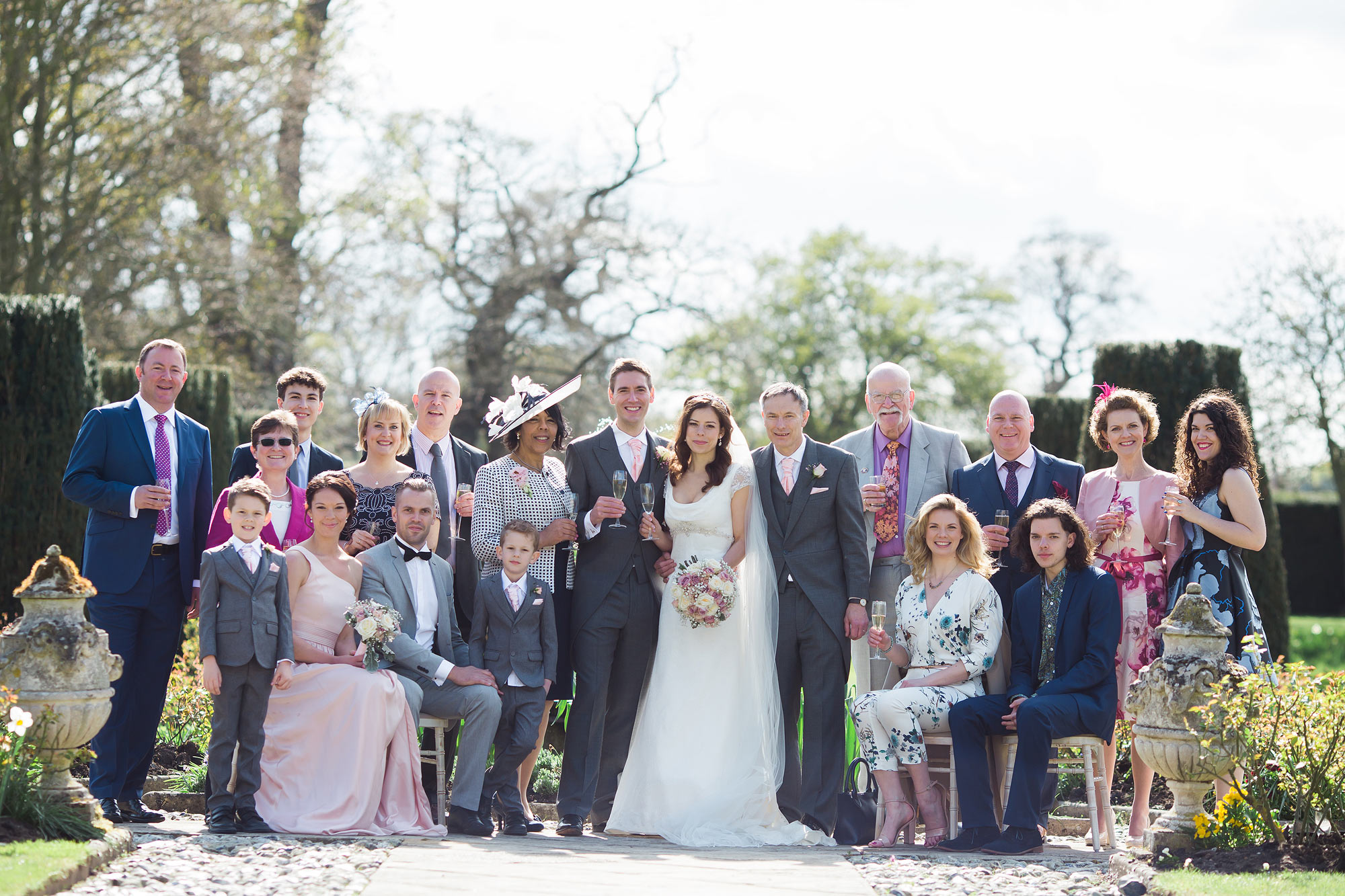 Family group photos at Hengrave Hall