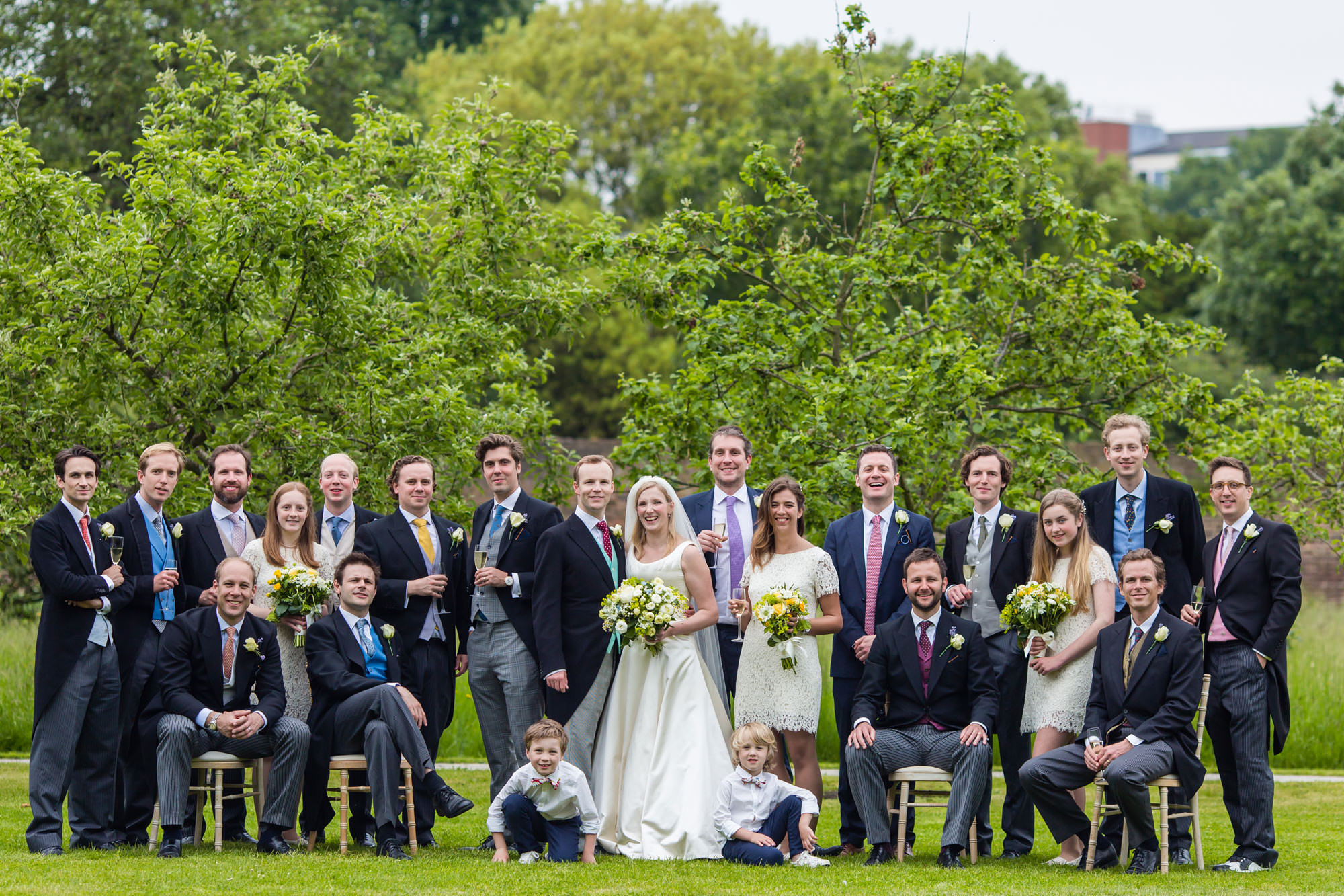 Groups photos at Fulham Palace Wedding