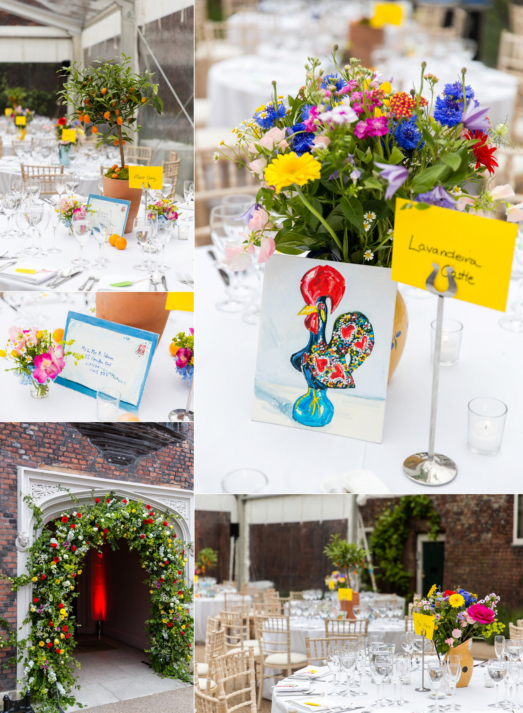 Fulham Palace Wedding tables
