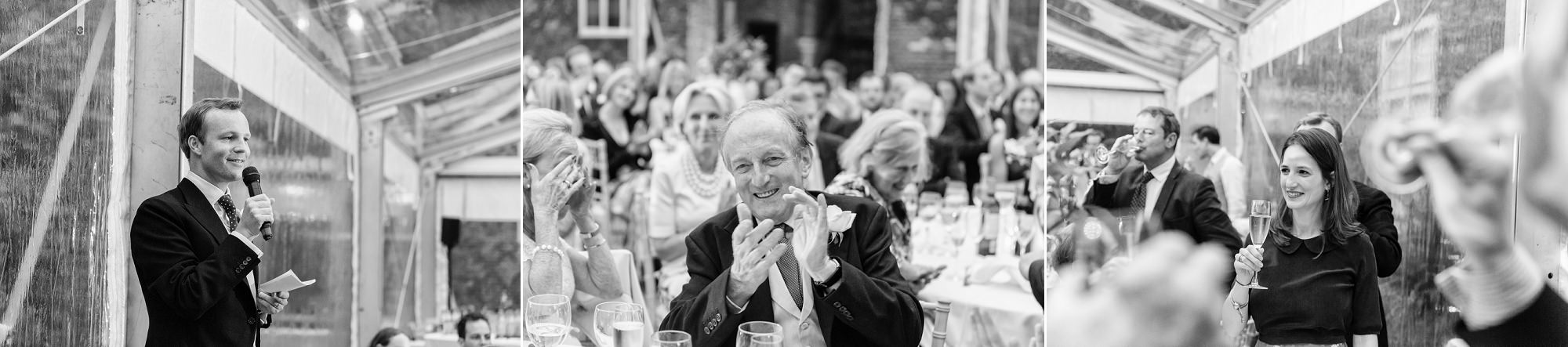 the father of the groom claps
