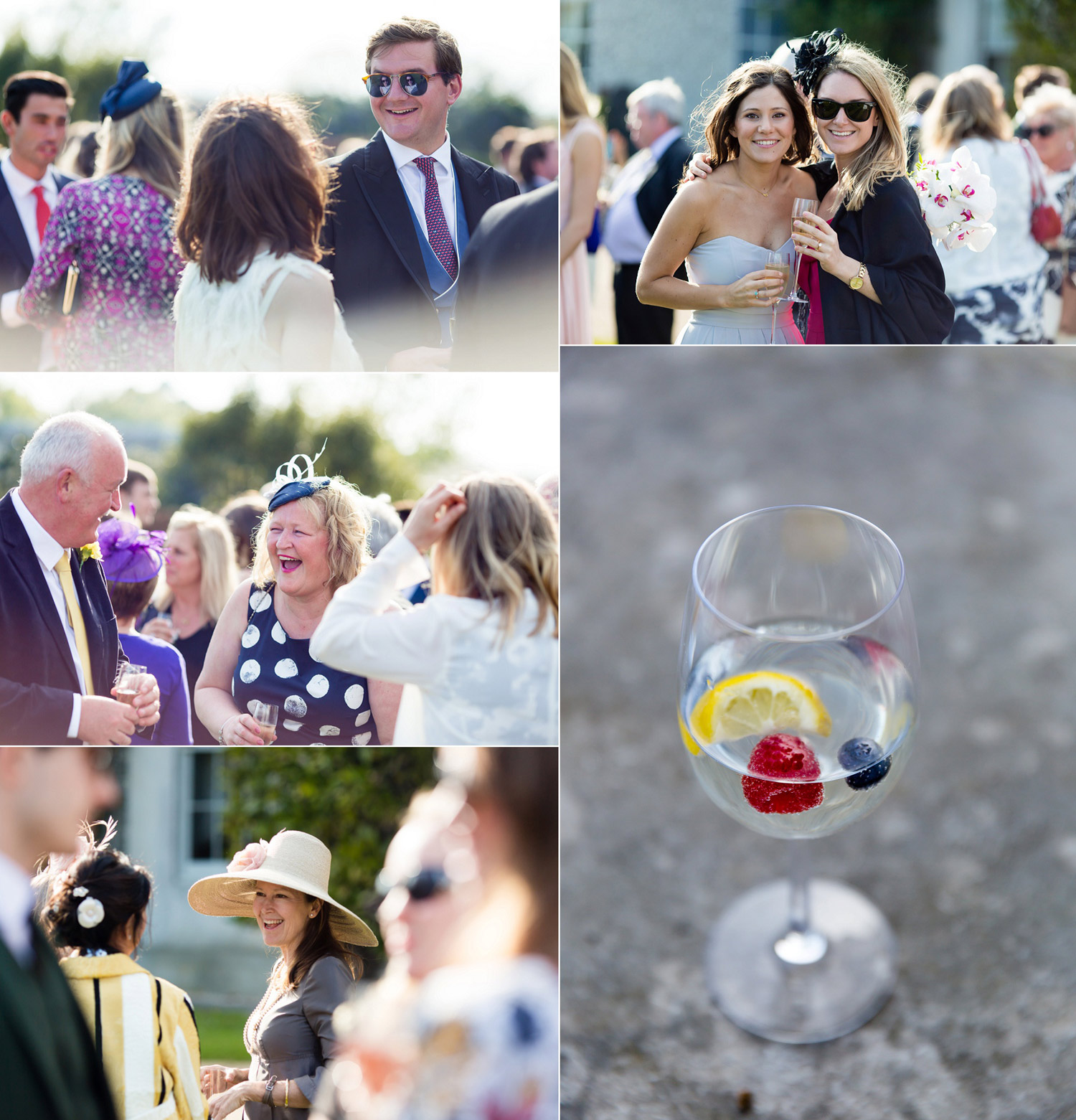 the drinks reception at Goodwood House