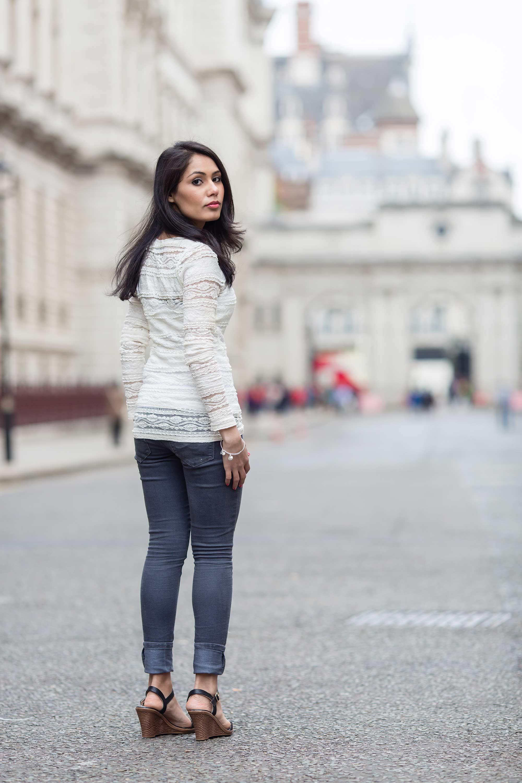 walking down the street in london