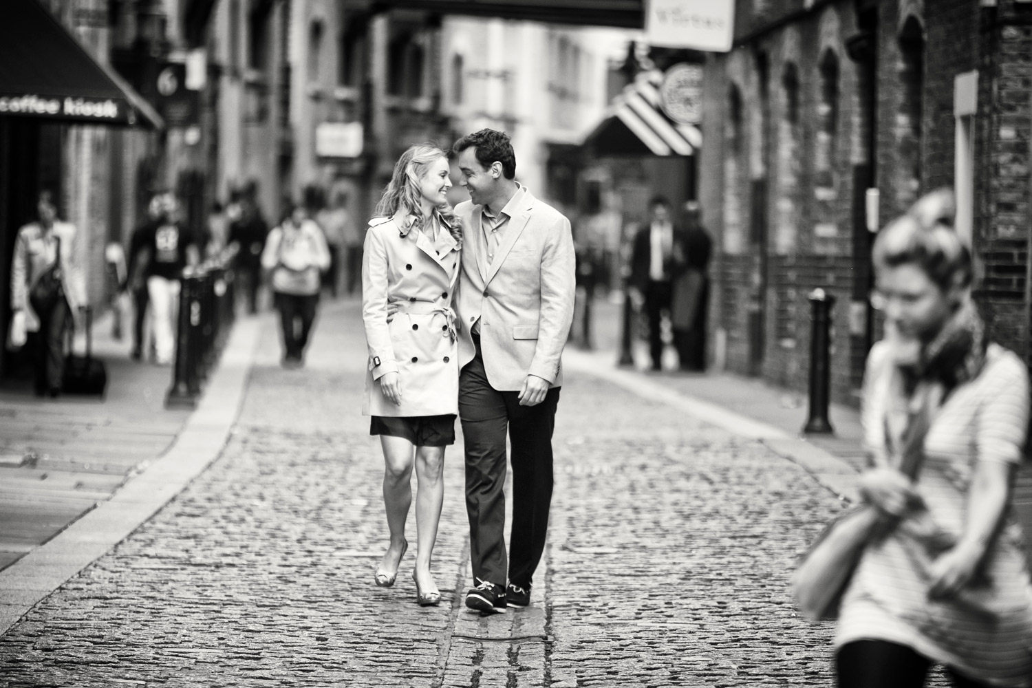 cobbled street engagement shoot