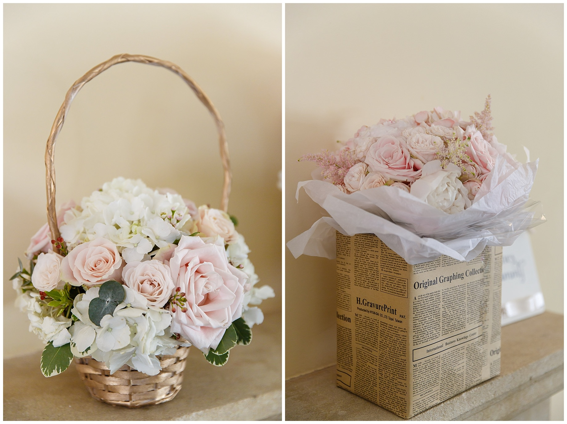 stunning pastel wedding flowers